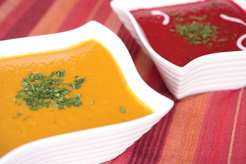 Curried Sweet Potato & Carrot Soup