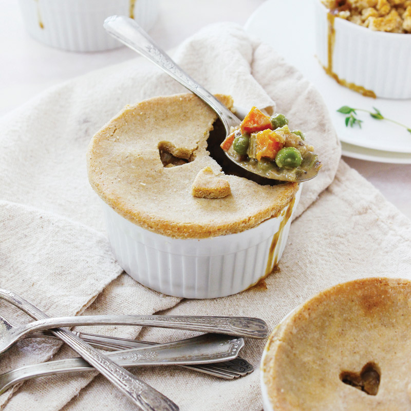 Individual Super Veggie Pot Pies