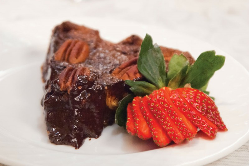 Black Forest Pecan Pie with Vanilla Creme