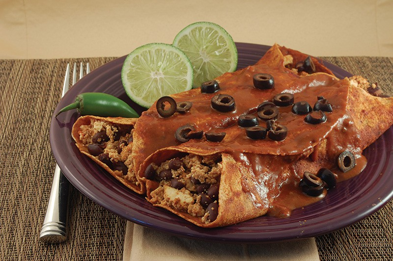 Smoky Black Bean Enchiladas (with Enchilada Sauce)