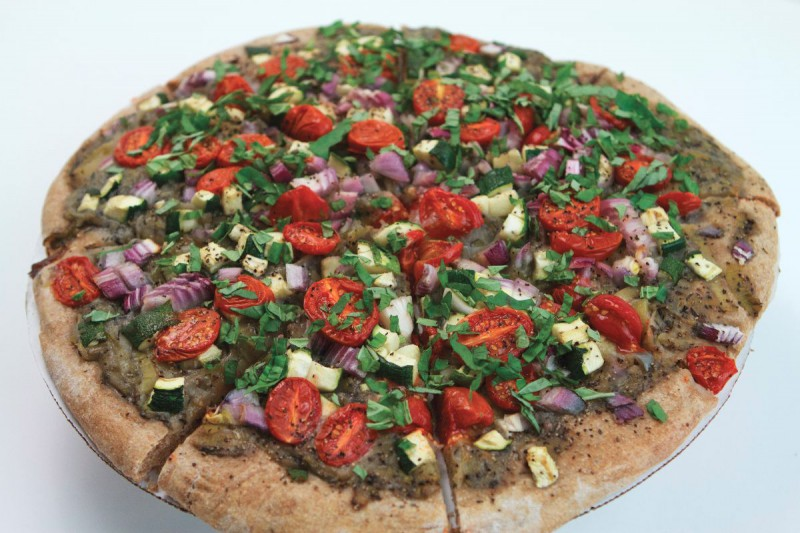 Red White and Green Pizza from Better Than Vegan