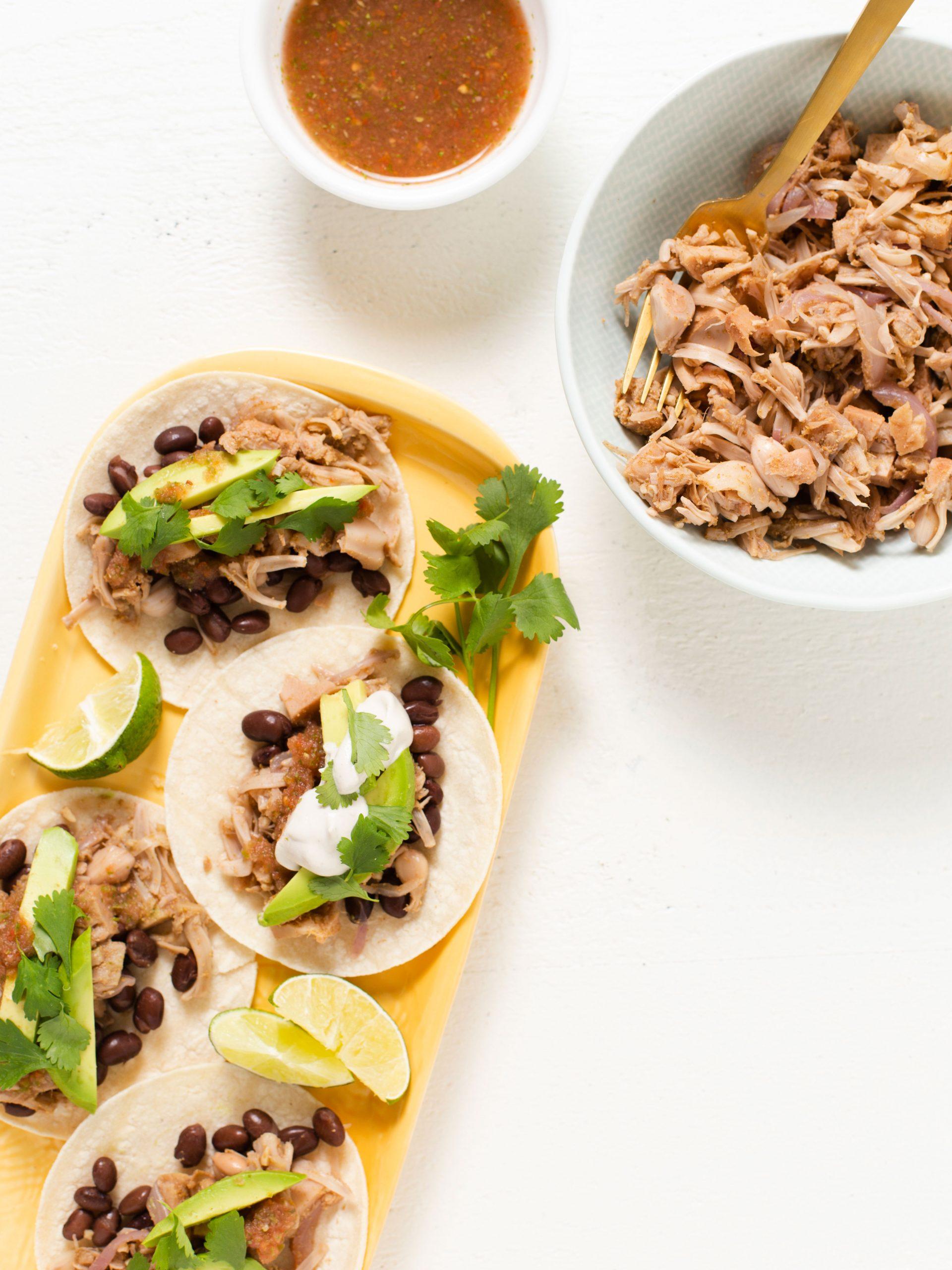 Recipe photo for Jackfruit Carnitas Tacos